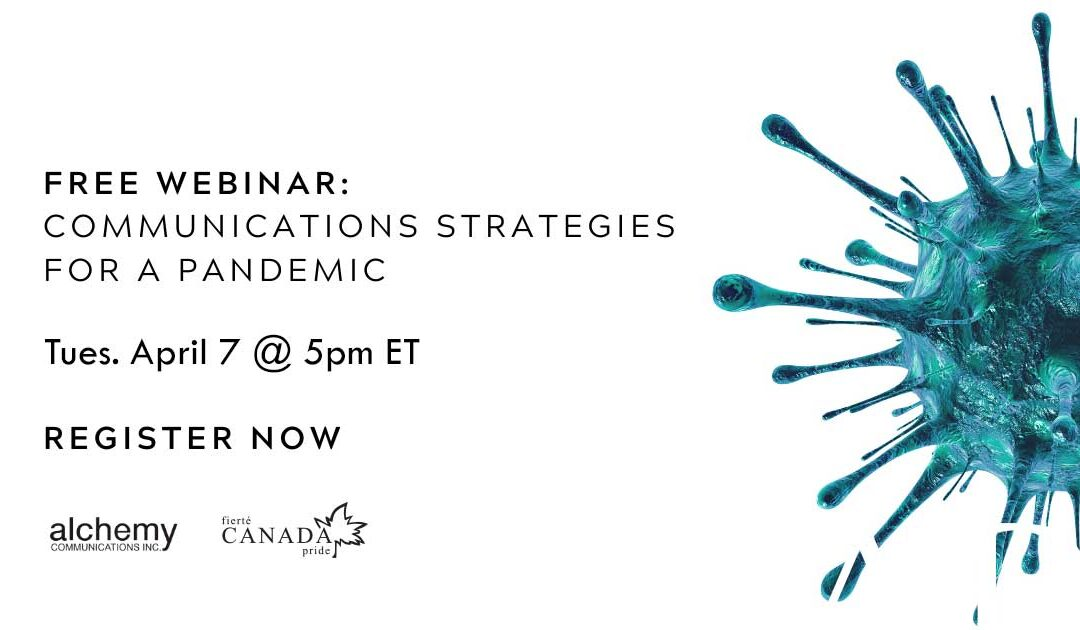 Webinar: Communications Strategies for A Pandemic